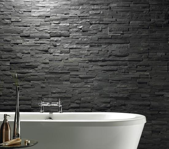 Uncalibrated Slate Linear Split Face Mosaic 30cm X 15cm