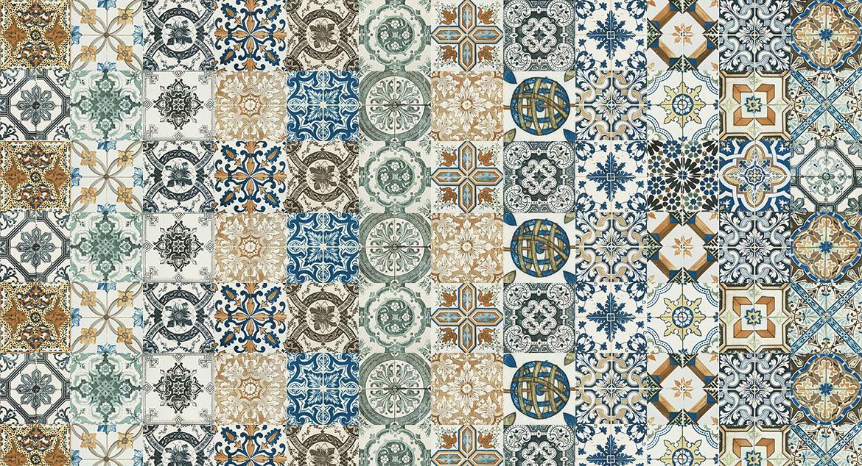 20cm X 20cm Moroccan Style Vintage Nik Wall Floor Tile Ebay