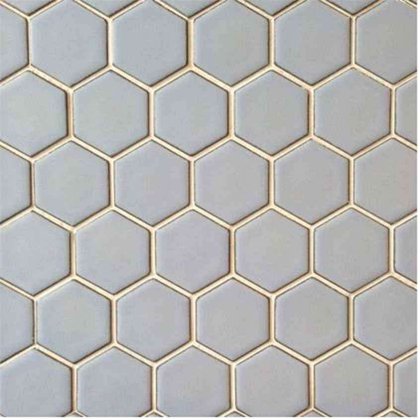 Hexagon Gloss Rustic Duck Egg 4 8 X