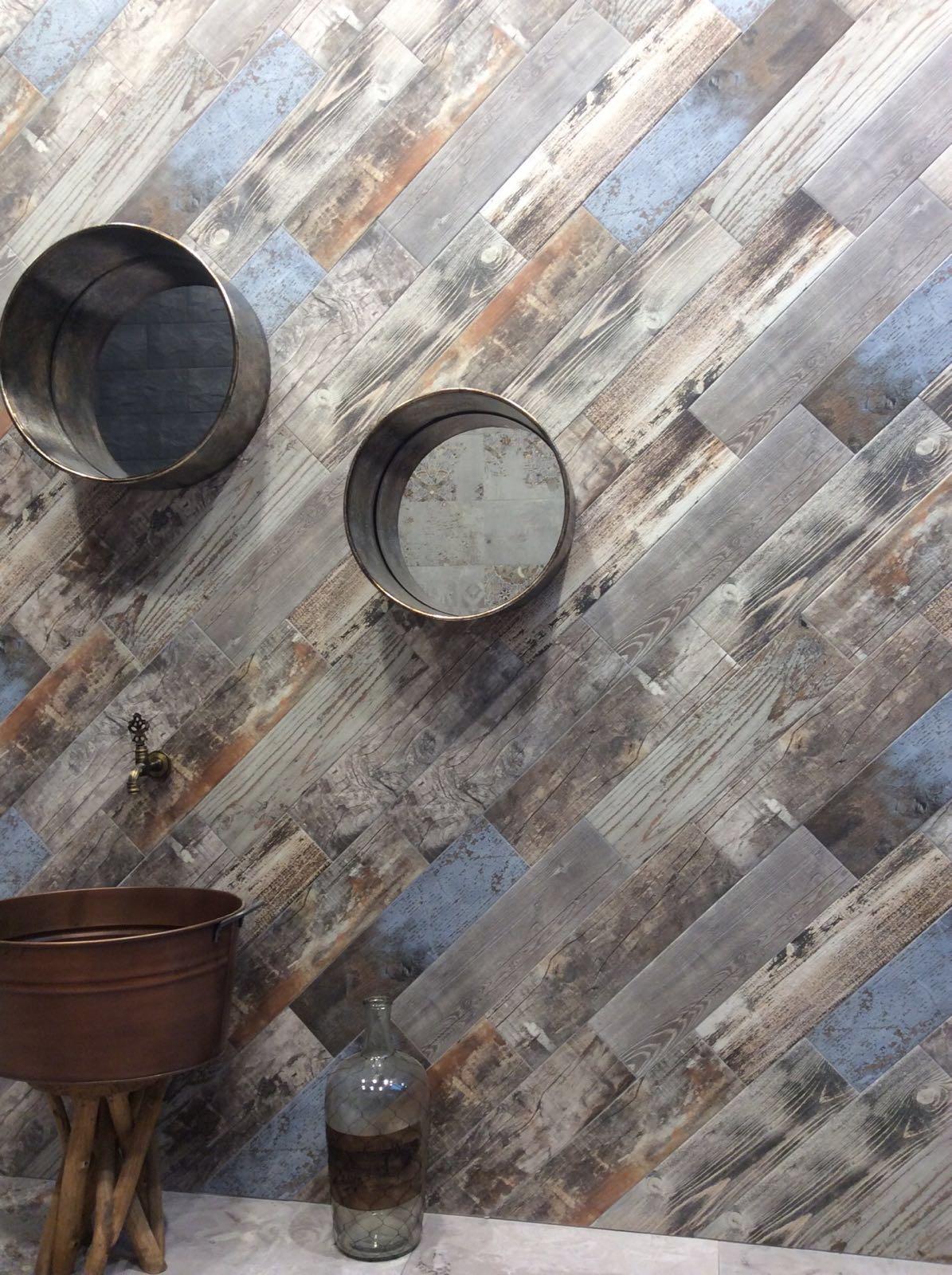 Reclaimed Rustic Blue Da Vinci Wood Effect Porcelain Wall Floor Tile 15 X 60cm Ebay