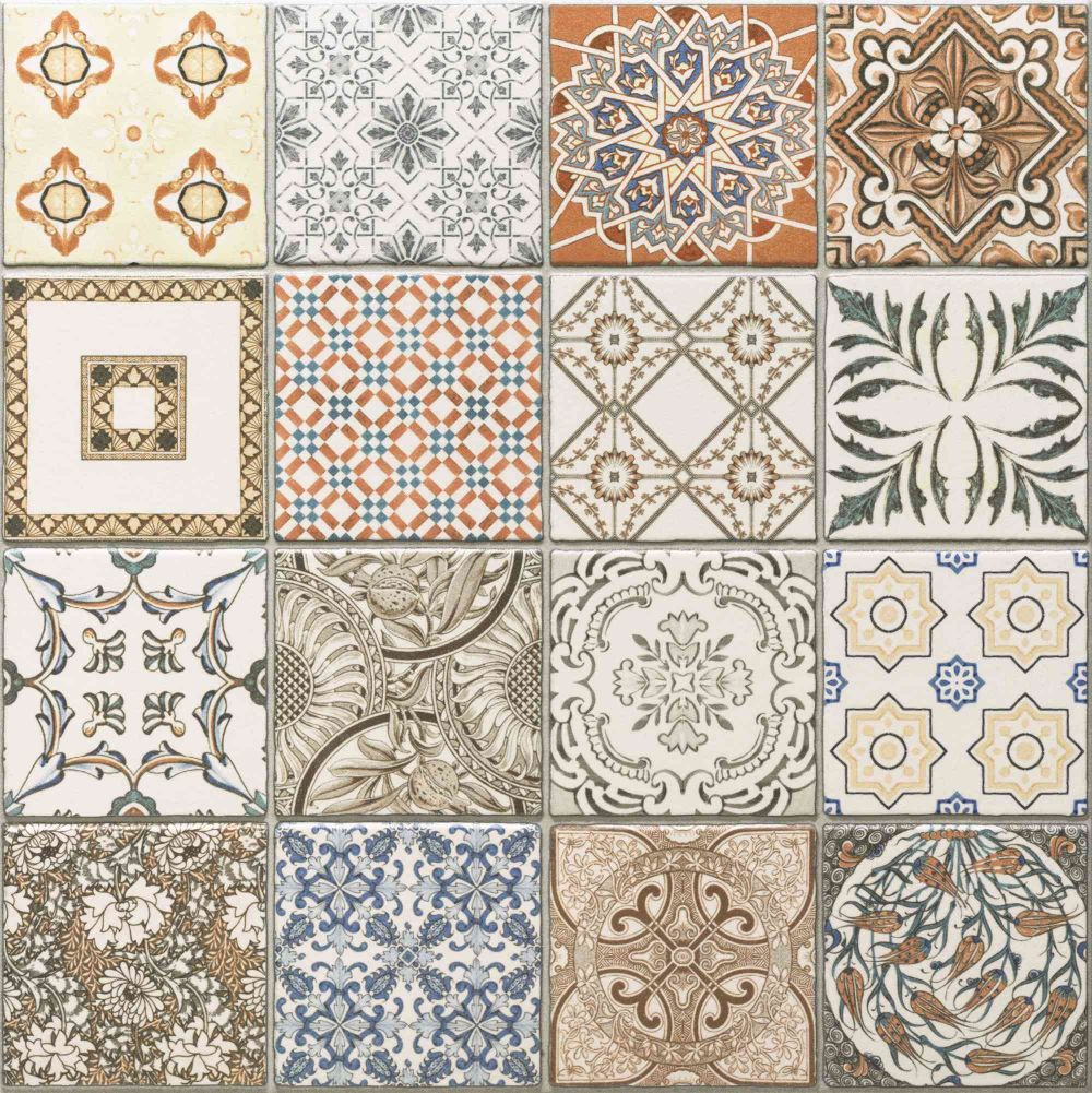 45x45 cm porcelain moroccan style floor wall patchwork tiles ebay 45x45 cm porcelain moroccan style floor wall patchwork tiles dailygadgetfo Gallery