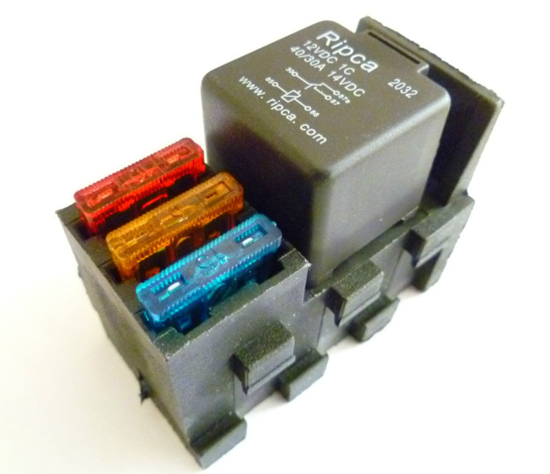 5 pin relay base with 3 x built