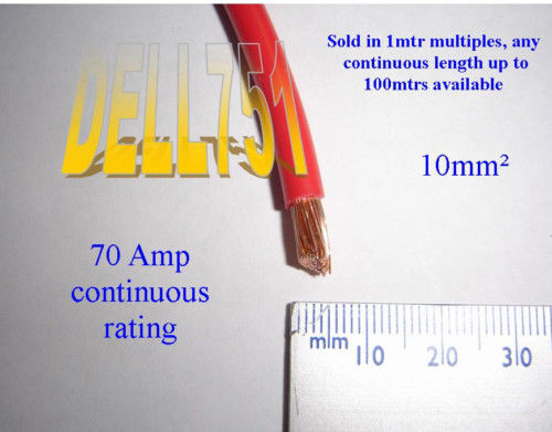 10mm2 8 awg red battery cable 70amp 840watts rated 1 mtr ebay red battery cable 70amp 840watts rated 1 mtr greentooth Images