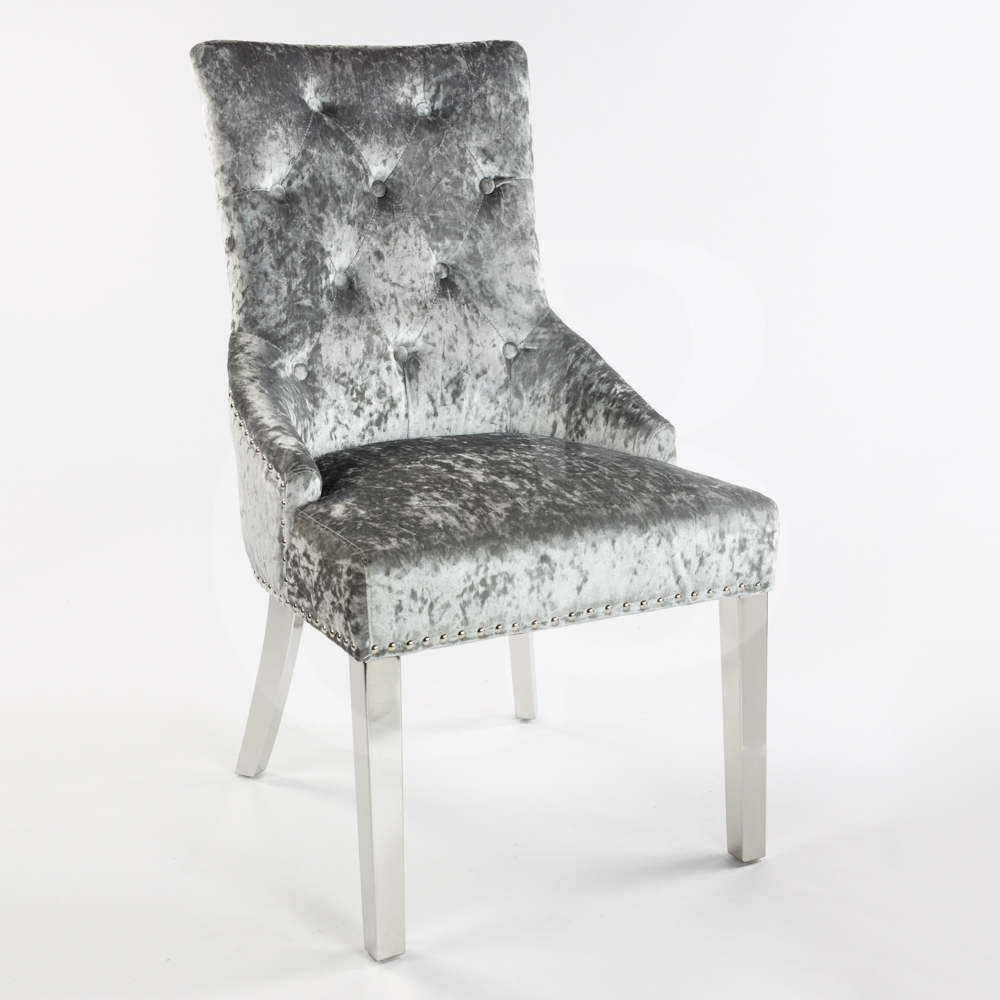 Crushed Velvet Chair Grey Chairs Amp Seating