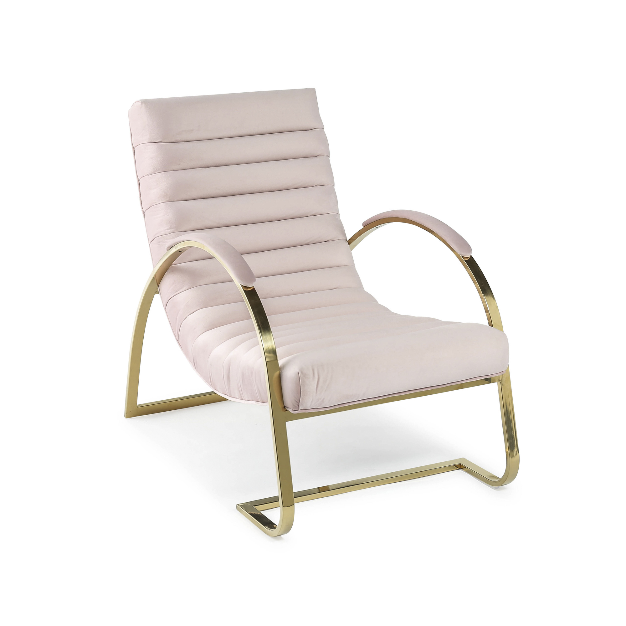 Details about eGF3-P Pink Brushed Velvet Lounger Slouch Armchair – Bedroom  Chair