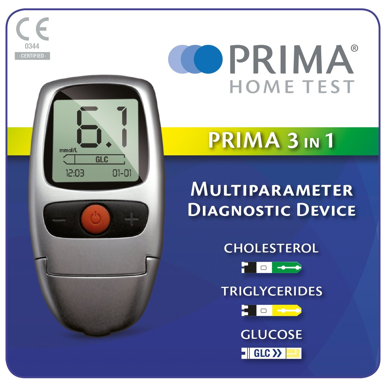 Prima 3-in-1 Blood Cholesterol, Glucose & Triglycerides Test/Testing Meter Kit | eBay