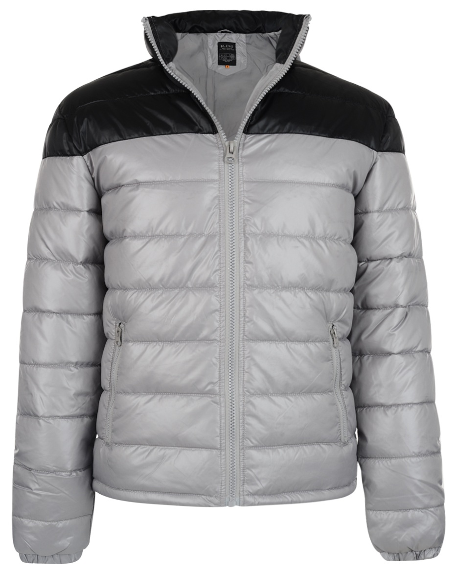 Blend New Mens Shiny Puffer Padded Jacket Sky Blue /& Light Grey M L XL XXL Coat