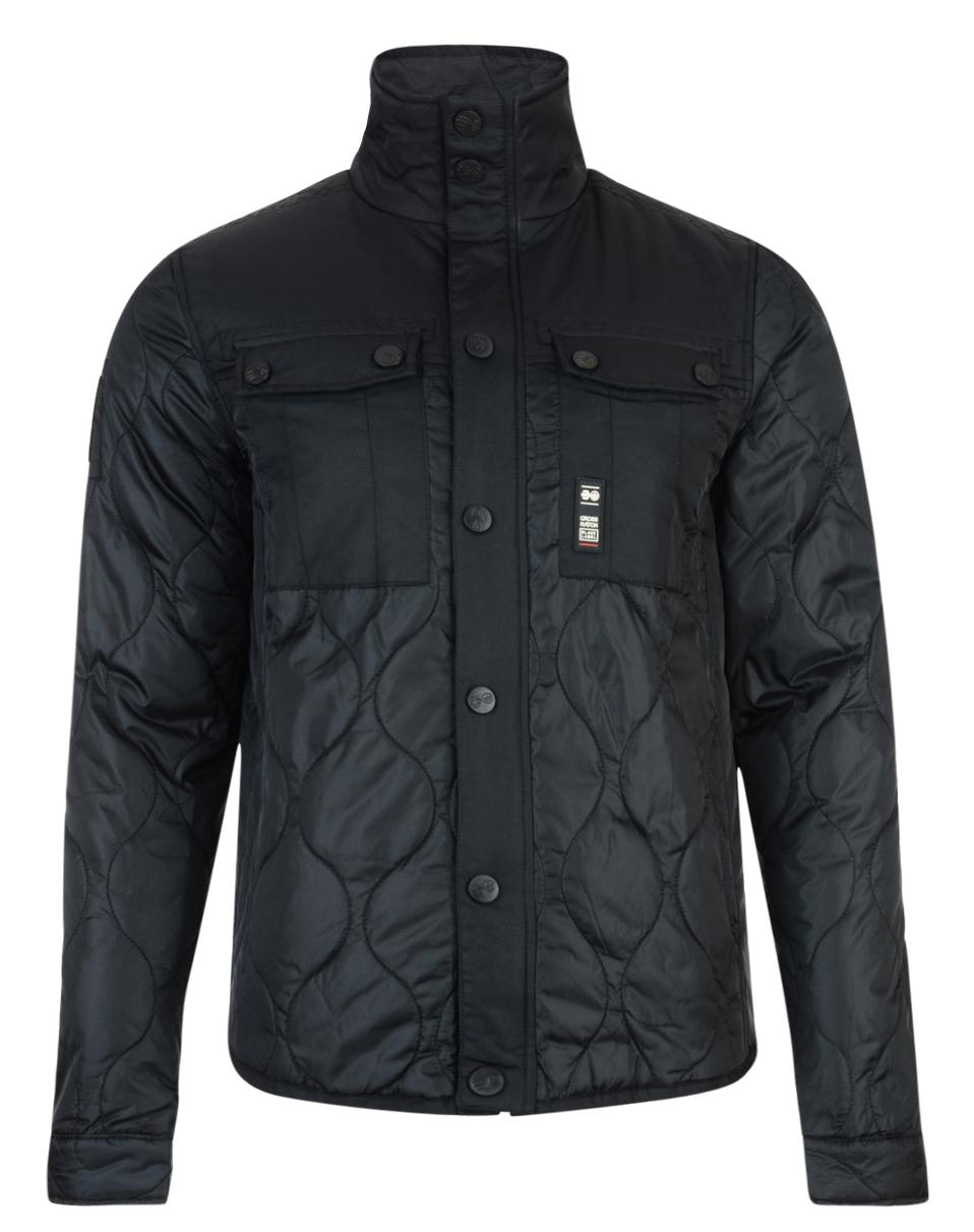 Crosshatch Men S Quilted Jacket S M L Xl Claythorpe Black