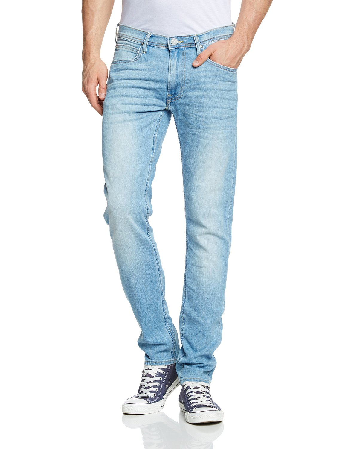 210d671b Lee Luke Slim Tapered Denim Jeans New Mens Stretch Regular Rise ...