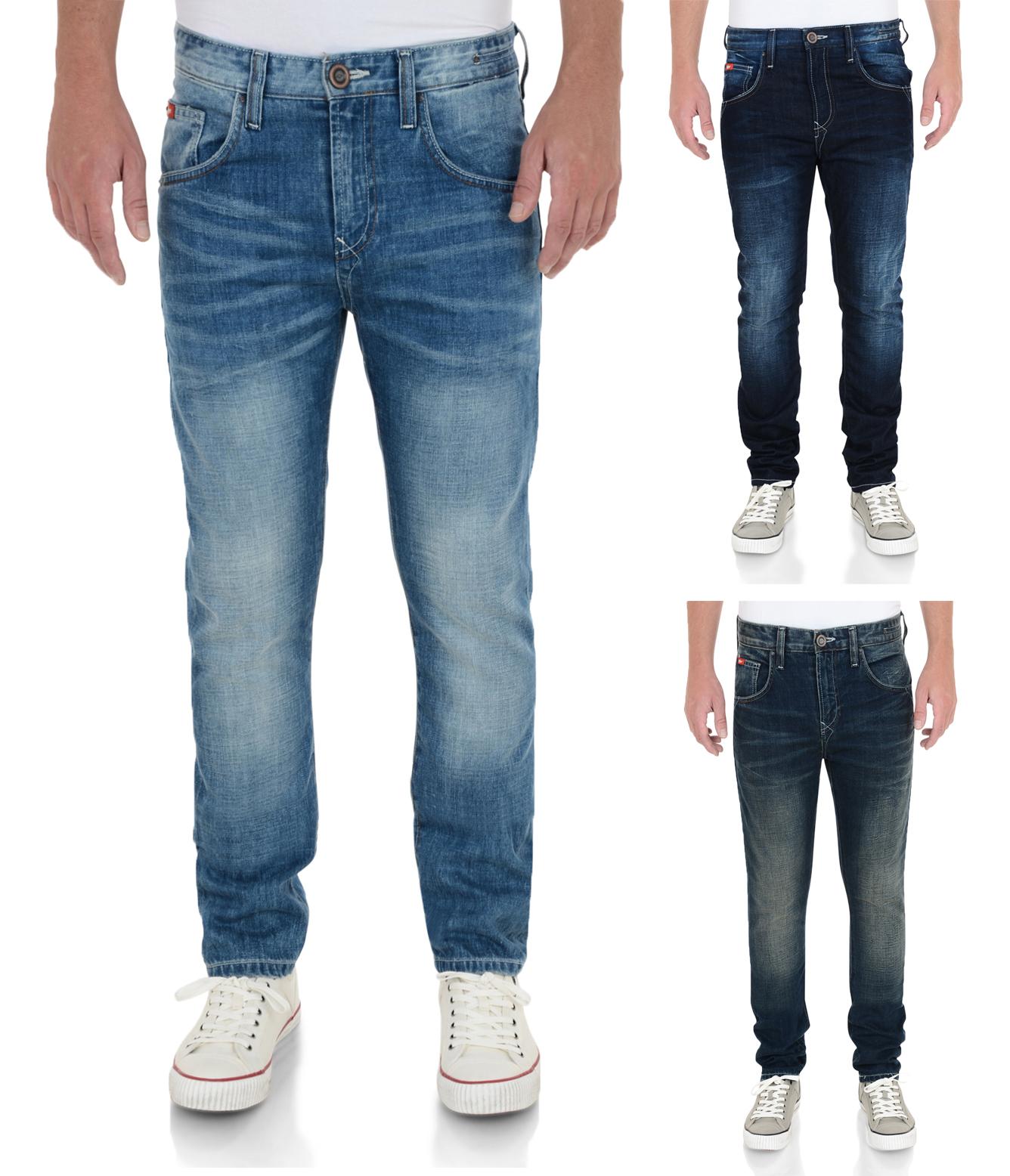 3fe55400 Lee Cooper Jeans Men's New Vintage Faded Denim Pants Straight Slim ...