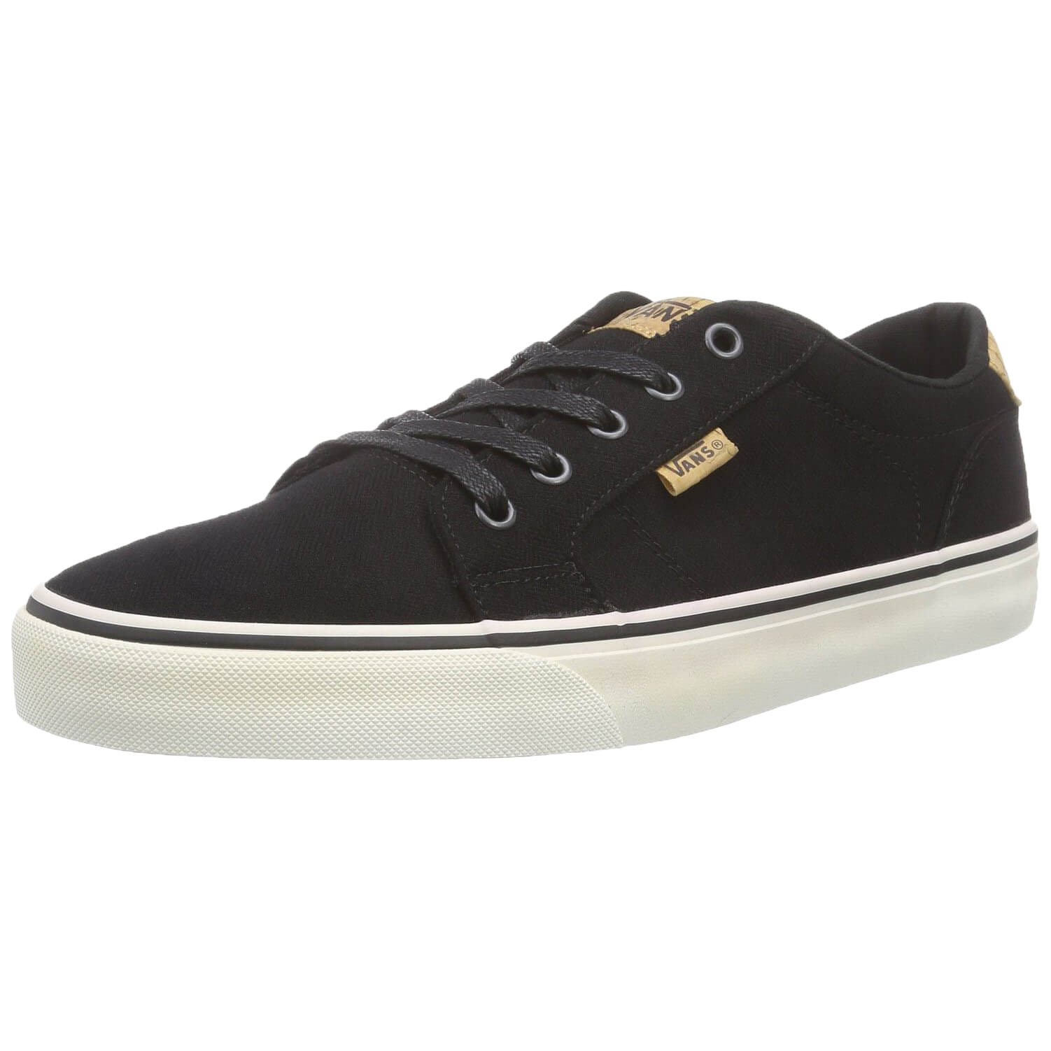 96e9785e4b Details about VANS Mens Bishop Canvas Cork Fashion Skater Shoes Casual  Plimsoll Trainers Black