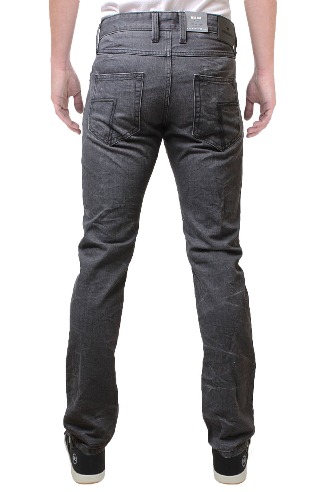 Emporio Seven New Men's Slim Fit Selvedge Jeans Tapered Knight Denim Pants Grey