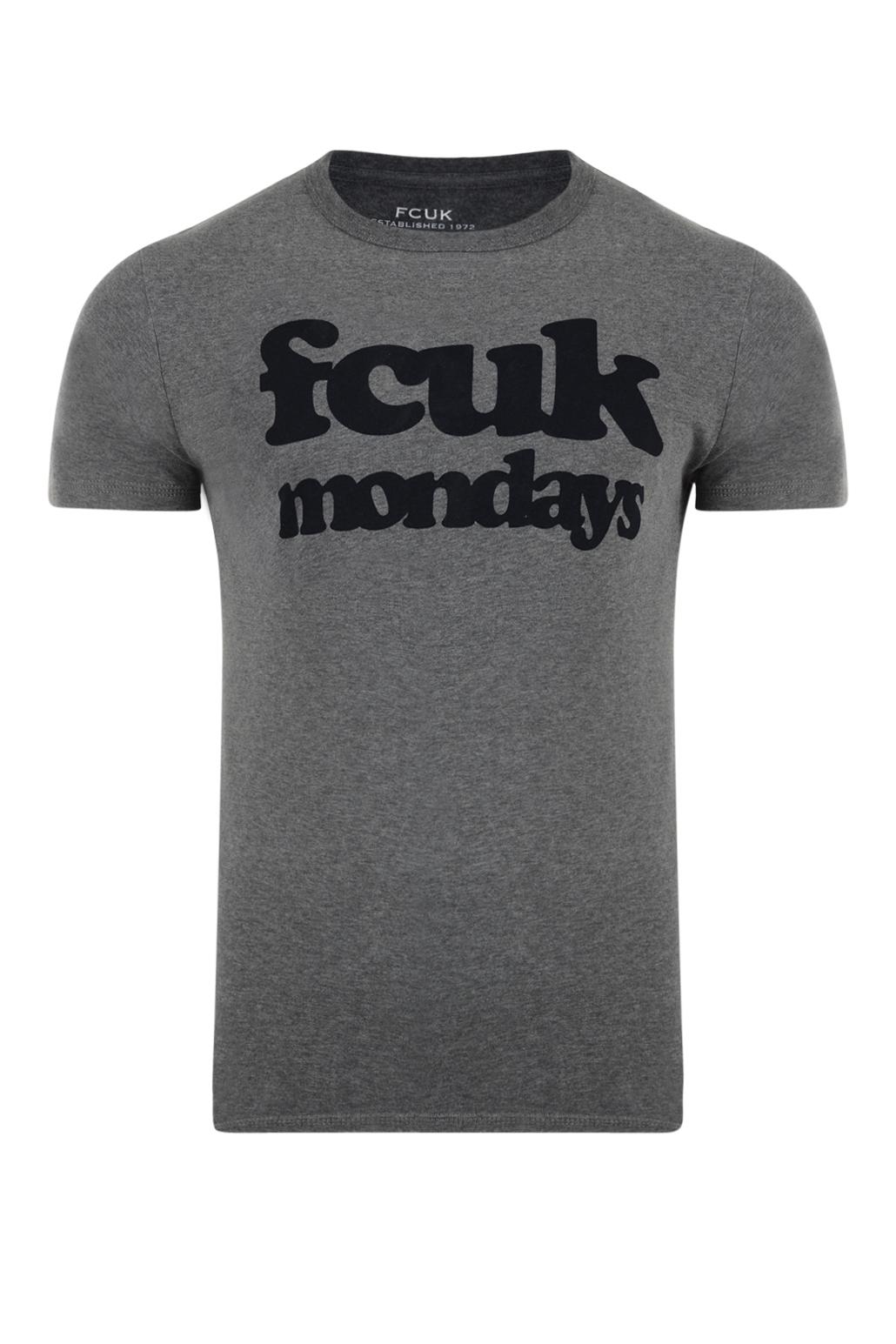 Bnwt Femme Fcuk designer French Connection Col V T shirt top bleu moyen