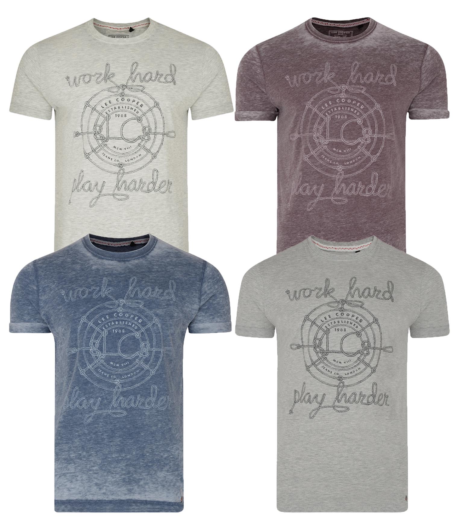 Hommes élimée en coton à manches courtes à rayures Summer Shirts