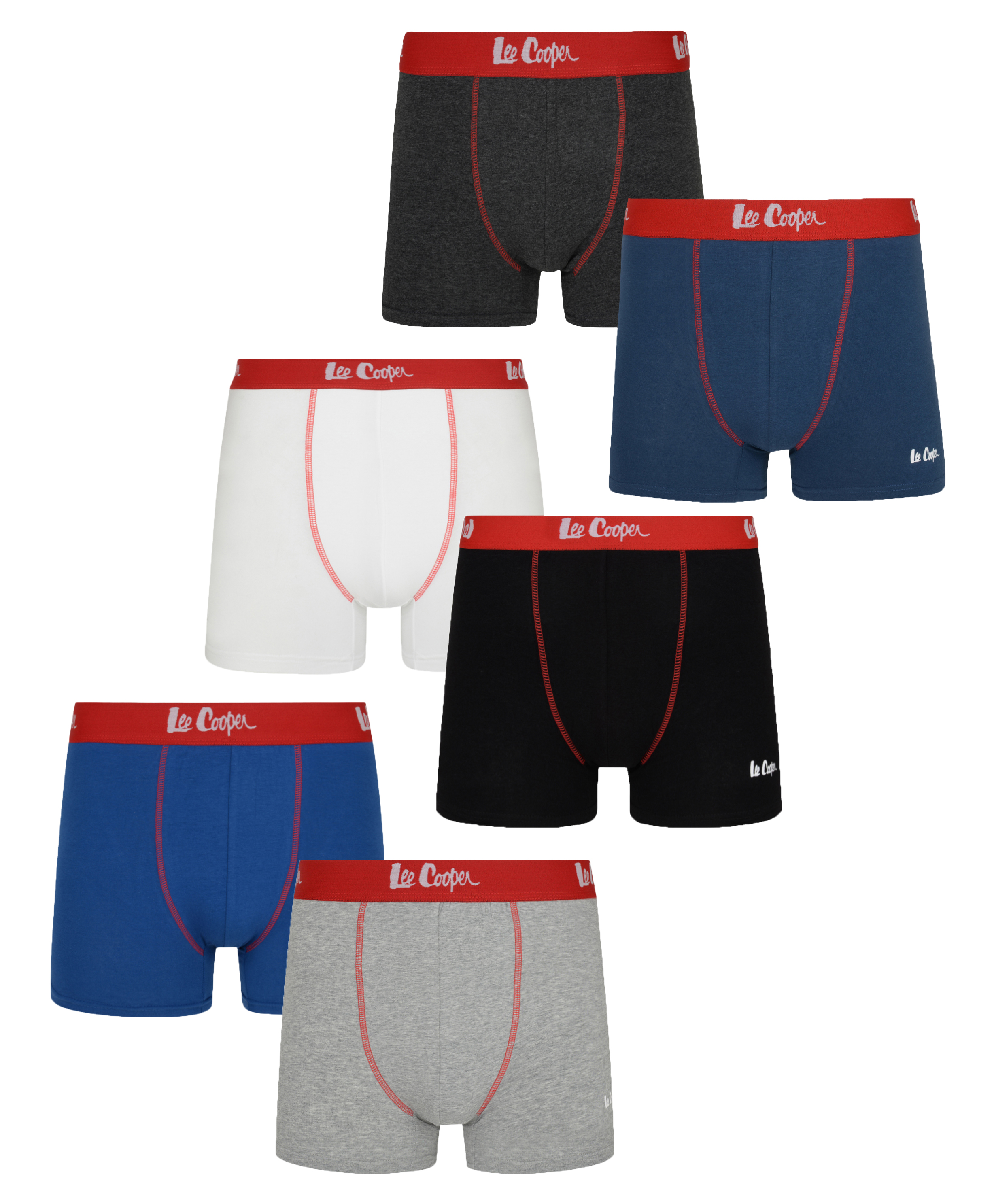 Lee Cooper Boxers 5 Pack Mens Gents Boxer Underclothes Elasticated Waist