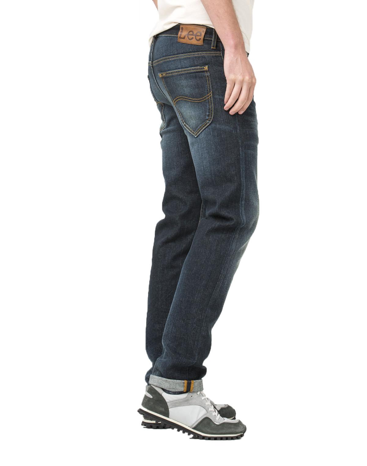 Lee Daren Slim Fit Tapered Jeans Mens Vintage Green Glint Straight Faded Denim