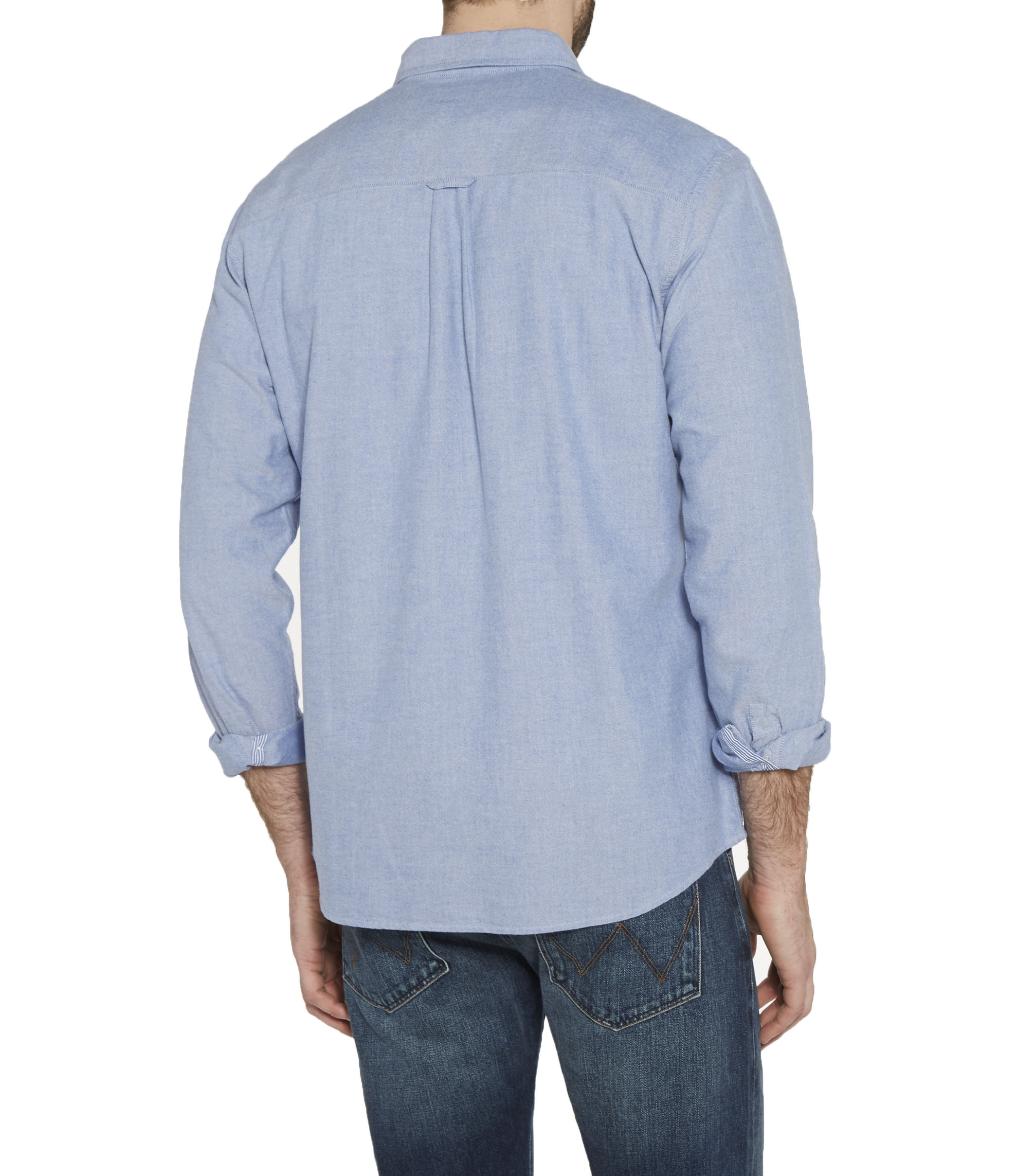 Wrangler Men s Cotton Oxford Shirt Regular Fit Long Sleeve Button Down  Collar 287a1c6140b