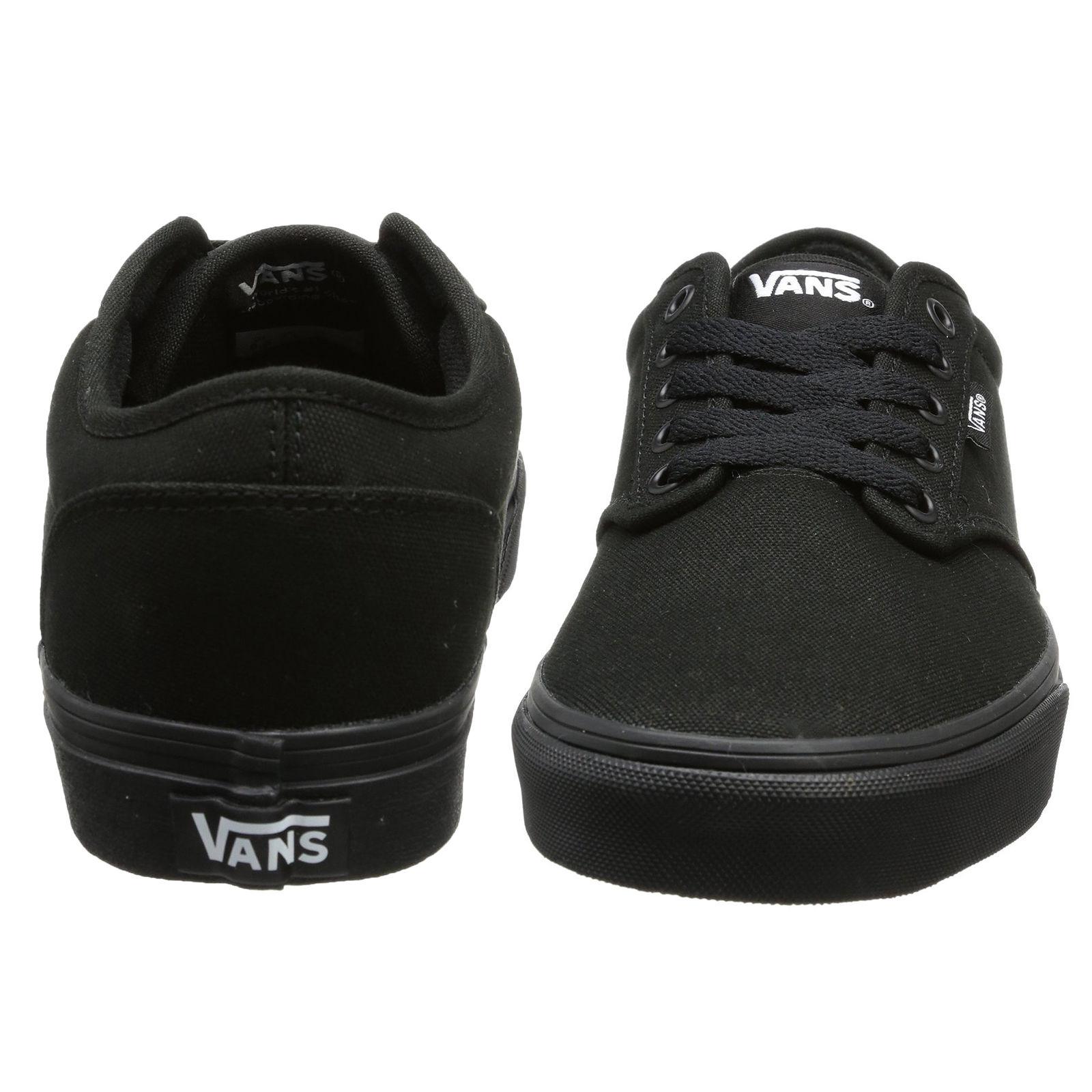 Détails sur Vans Atwood Hommes Toile Patineuse Baskets Uni Chaussures Tennis à Lacets Noir