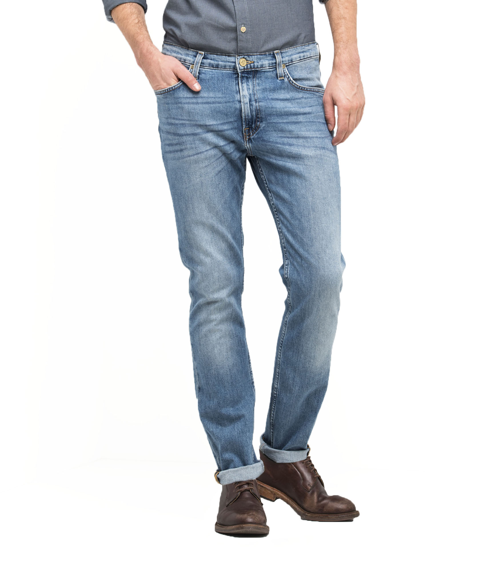 Slim Fit Blue Blue Surrender Lee Men/'s Jeans Rider