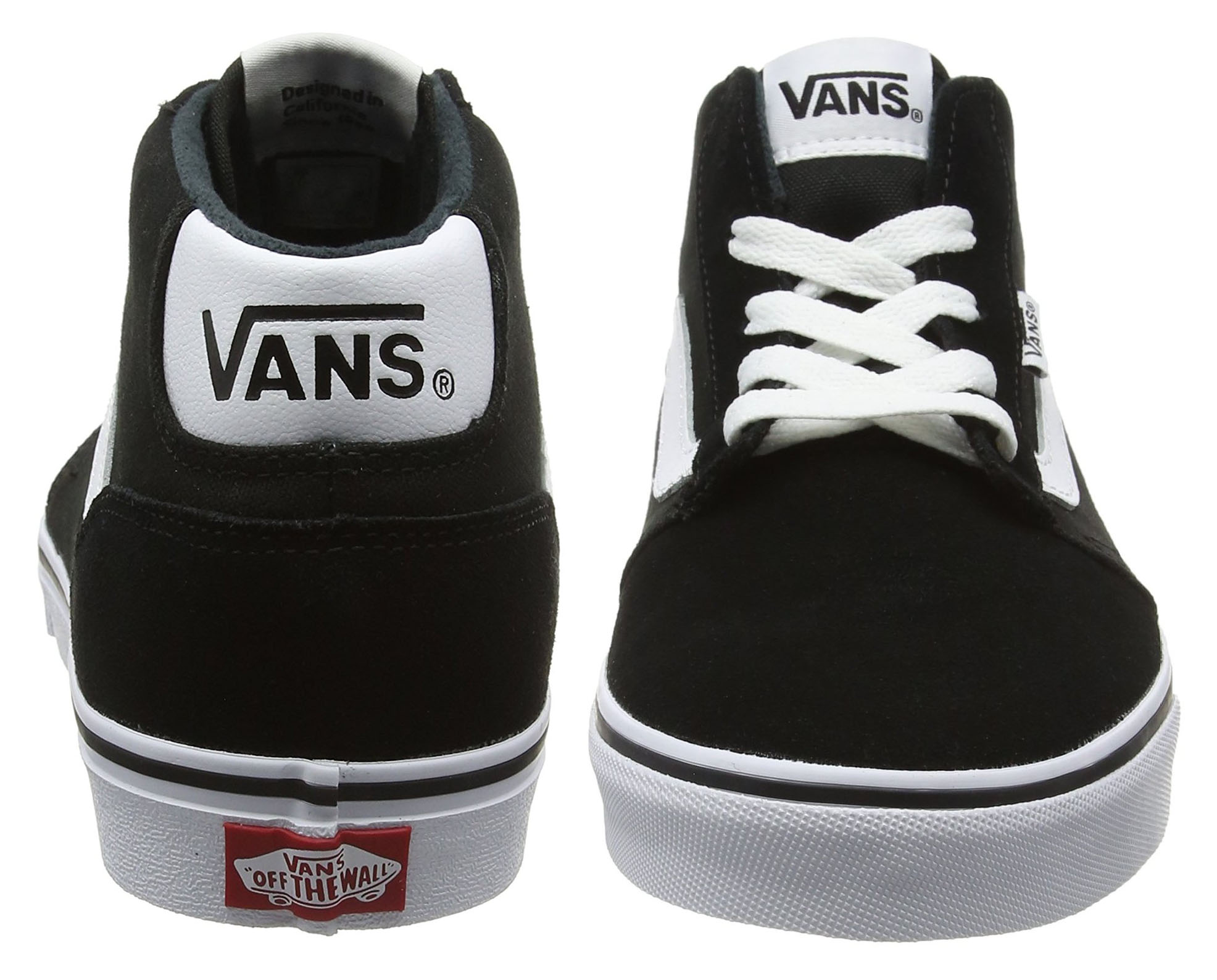 8df6375a65a333 Click on the Image to Enlarge. More Details. These stylish VANS Chapman Mid  Suede Canvas Stripe Trainers ...