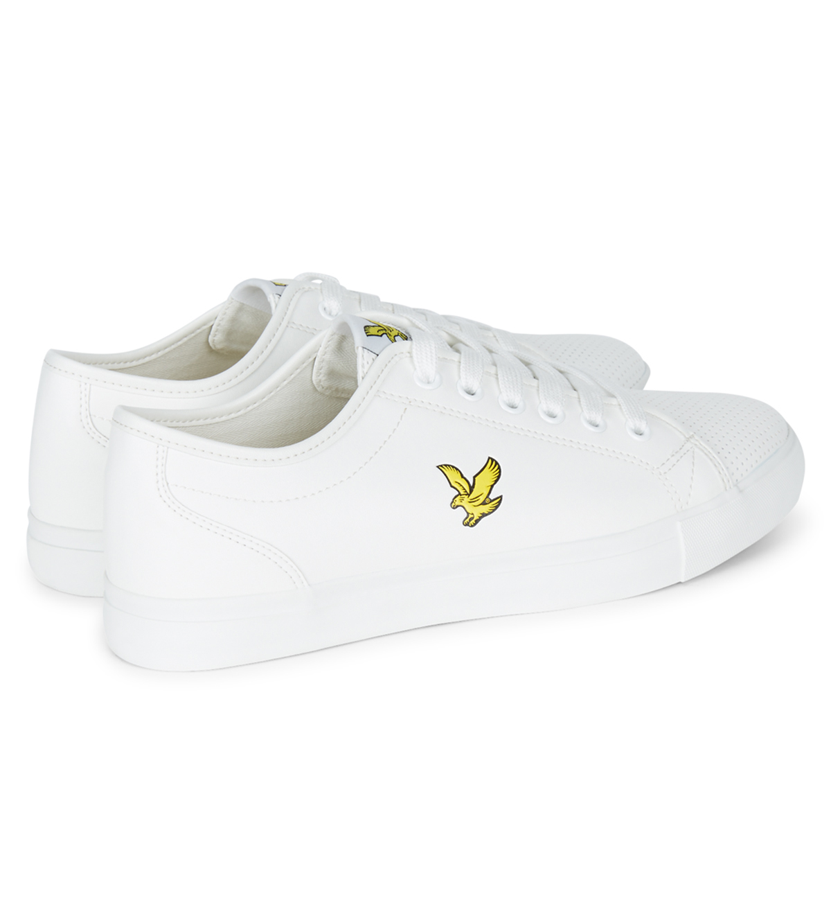 Lyle /& Scott Whitlock Perforated Fashion Synthetic Plimsolls Shoes Trainer White