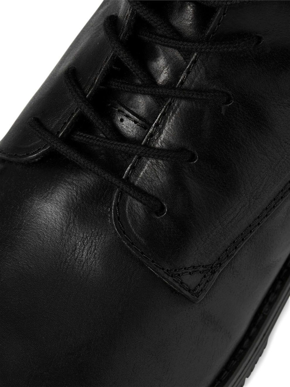 Detalles de JACK JONES Botas De Cuero Para Hombre Orca & Alto Zapatos De Invierno De Piedra Negra Botas de motorista ver título original