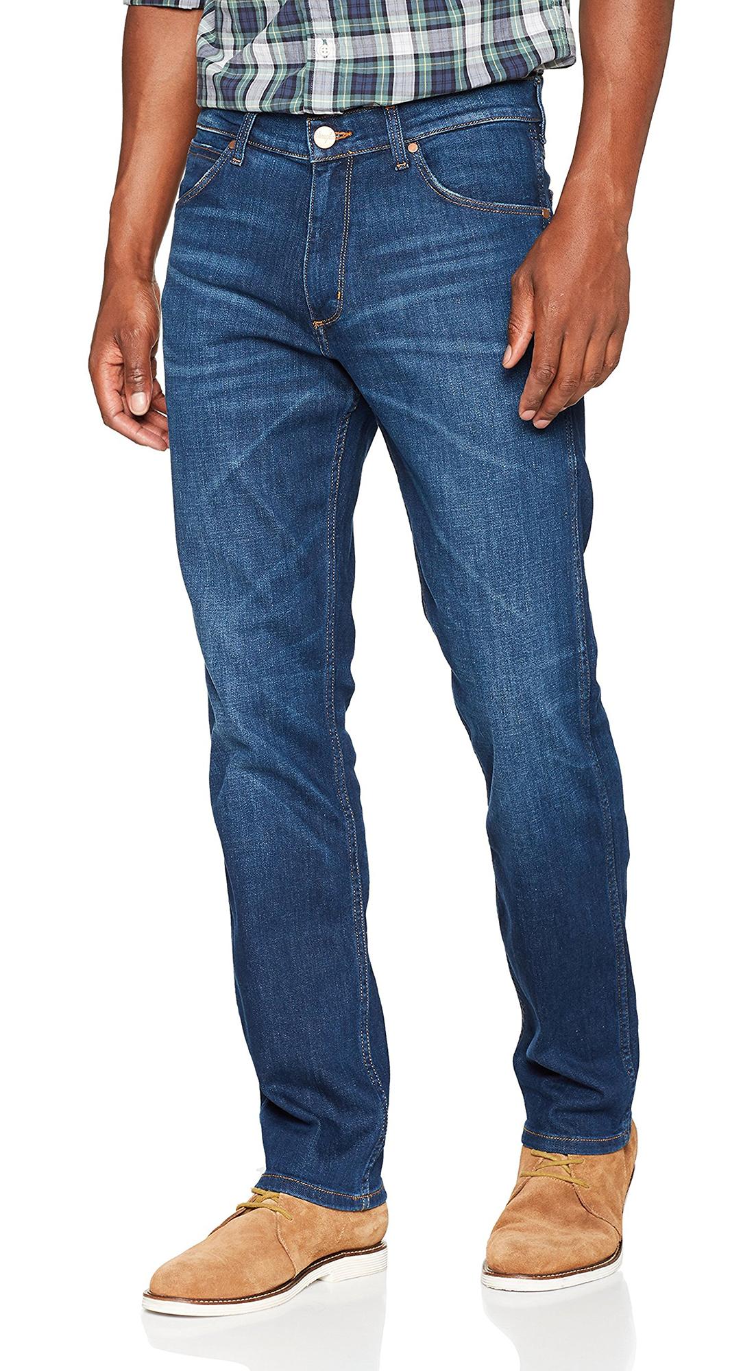 Wrangler Greensboro Regular Straight Tapered Stretch Jeans Blown Away Denim