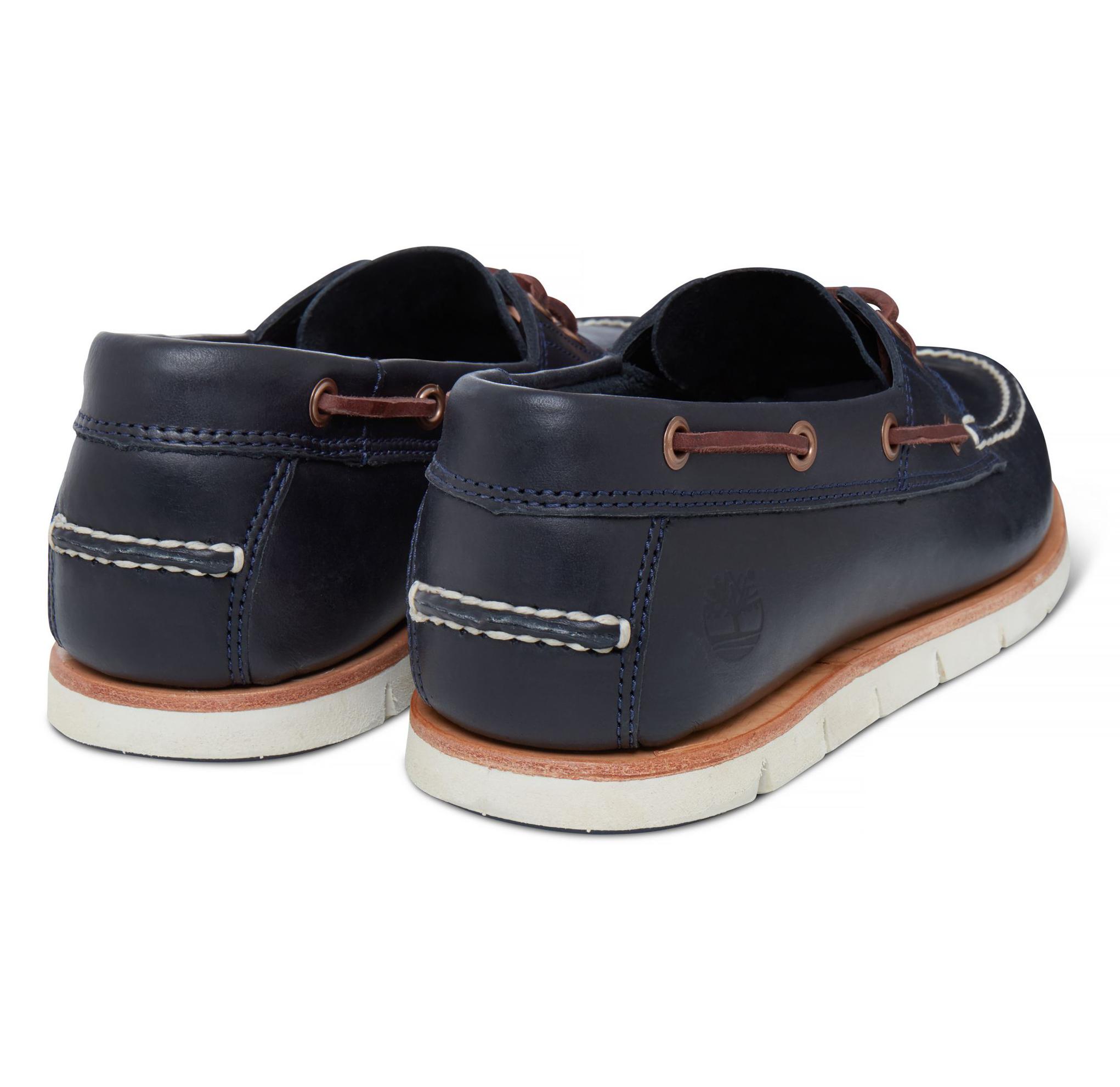 Détails sur Timberland Tidelands 2 Eye Chaussures Bateau Cuir Pont Chaussure Bleu Indigo