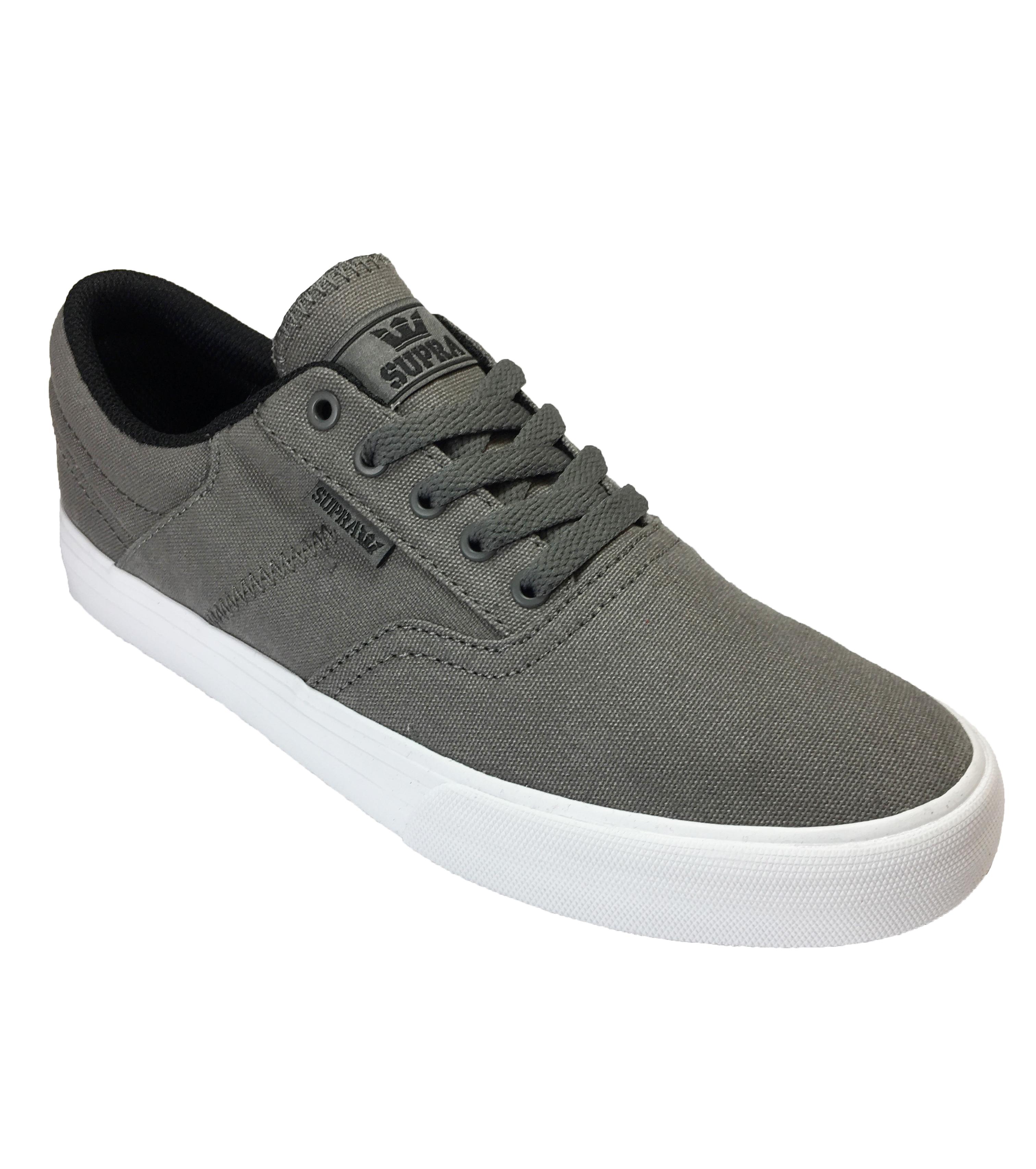 Details about SUPRA Cobalt Canvas Trainer Casual Sporty Gym Sneaker Shoe  Plimsole Grey White cdcf23d9bc99