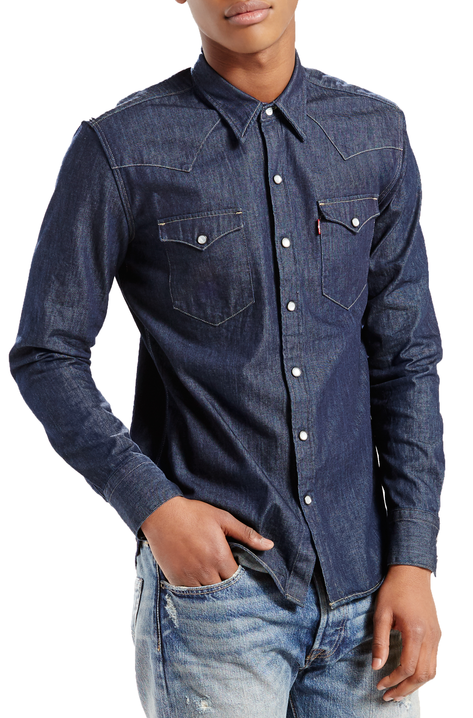 5560ddc731 Click on the Image to Enlarge. More Details. LEVIS Barstow long sleeve  denim shirt ...