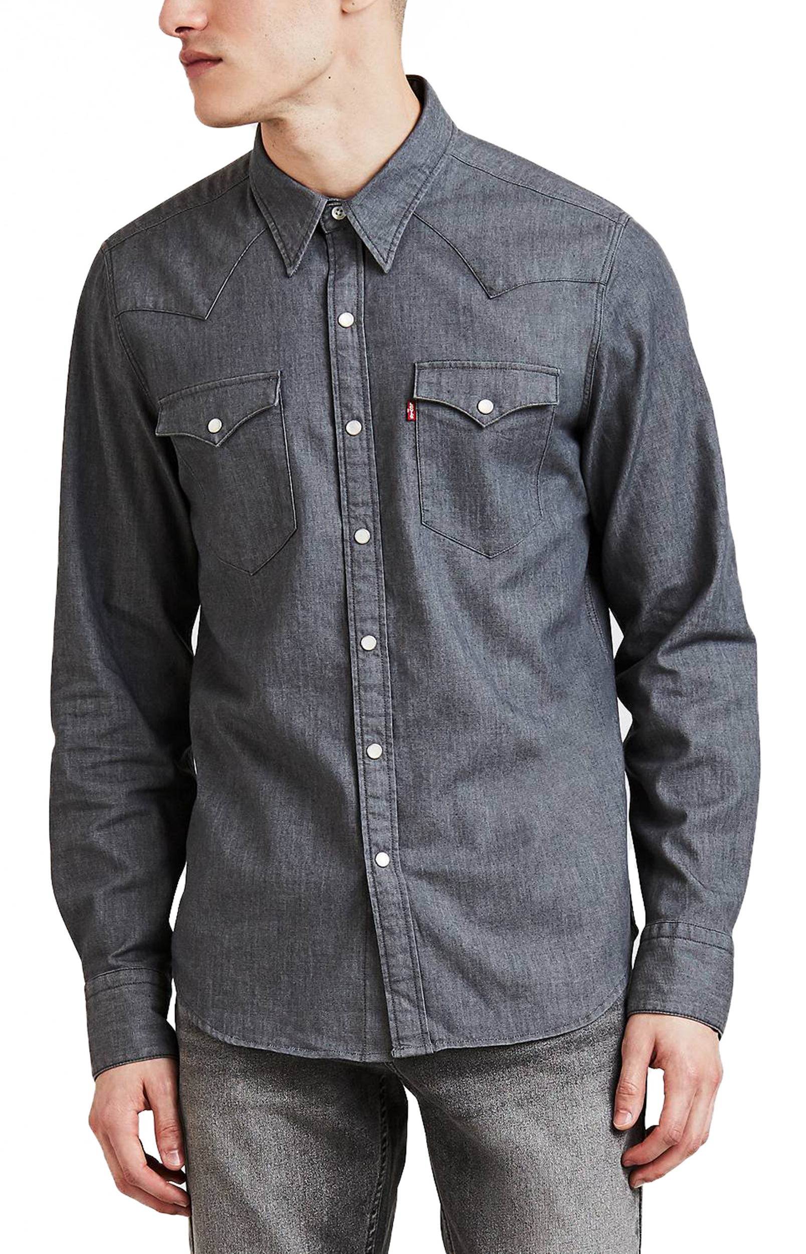 e3b3b325c7 Click on the Image to Enlarge. More Details. LEVIS Barstow long sleeve  stretch denim shirt ...
