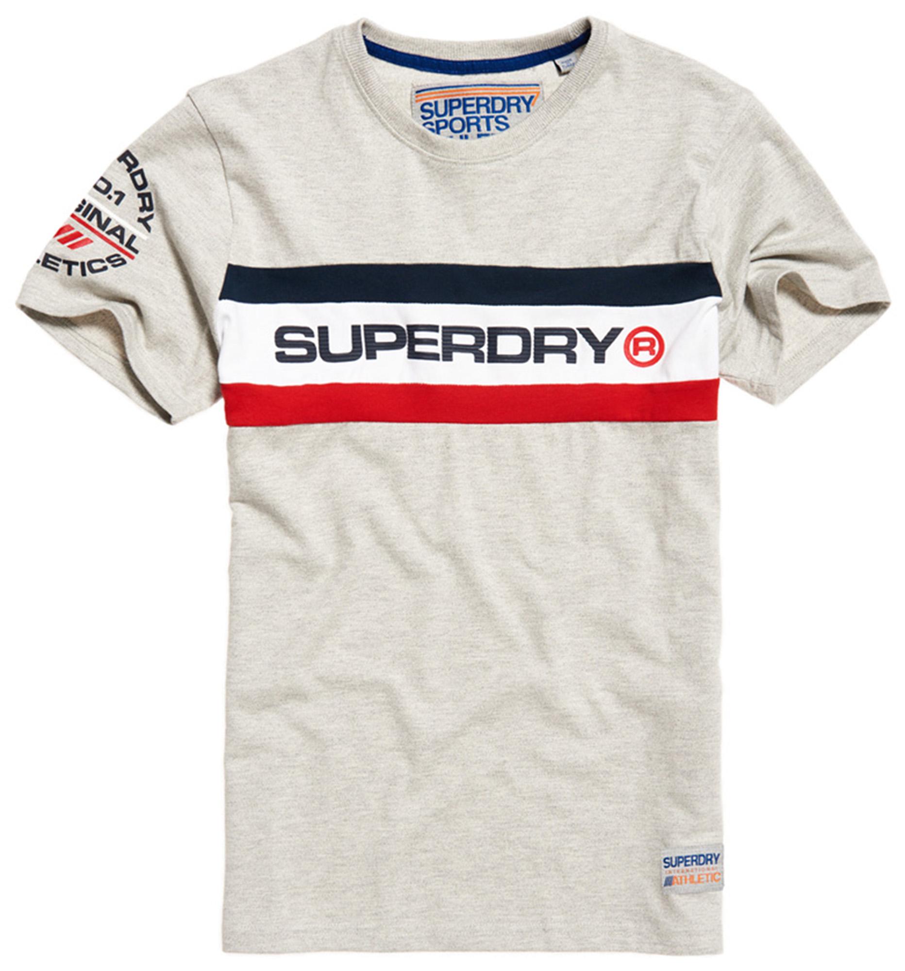 Superdry New Orange Label Crew Neck T-shirt Plain Cotton Tee Neon Optic White