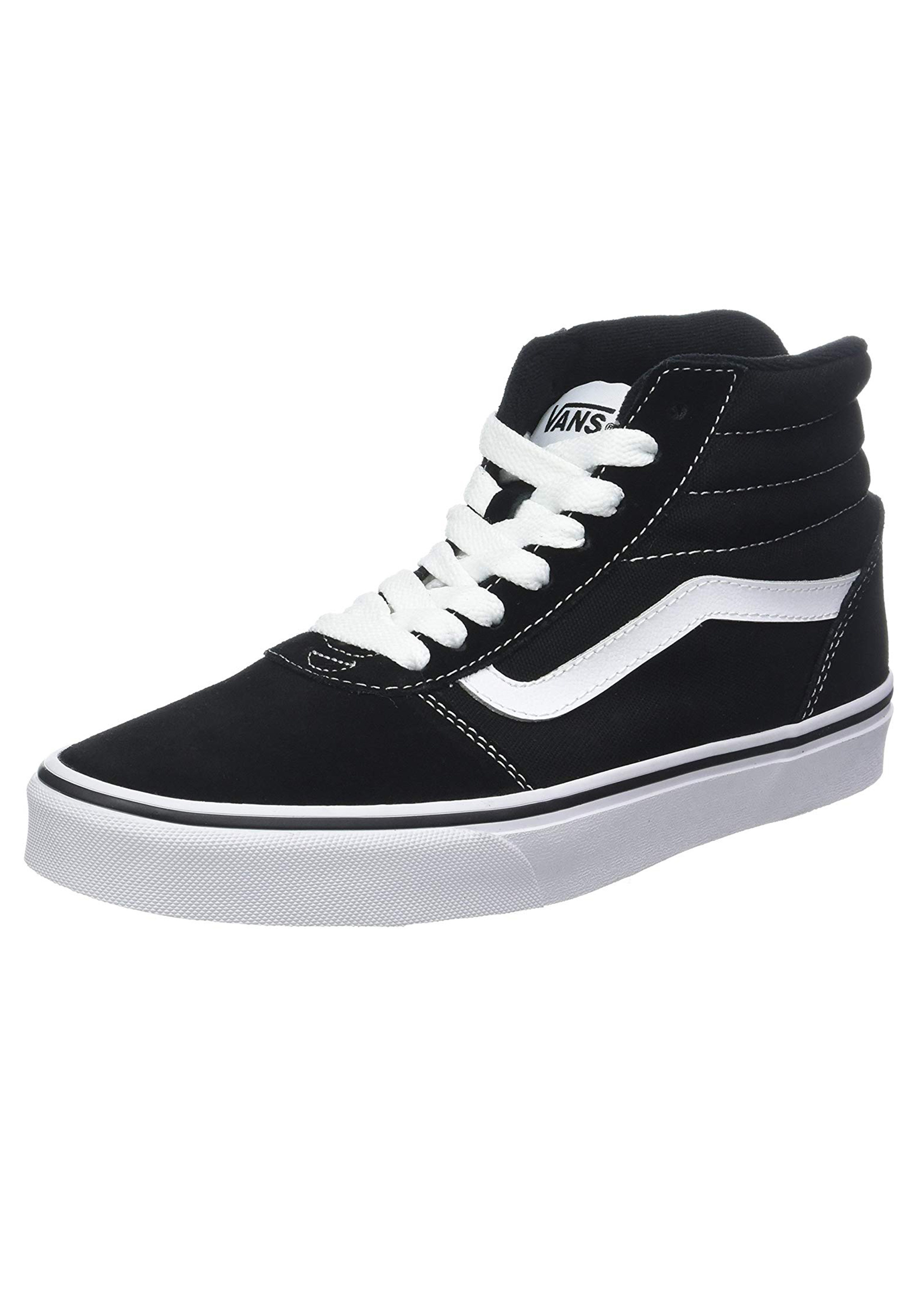 80783bd5668 Click on the Image to Enlarge. More Details. These stylish VANS Chapman  High Canvas Suede Stripe Trainers ...
