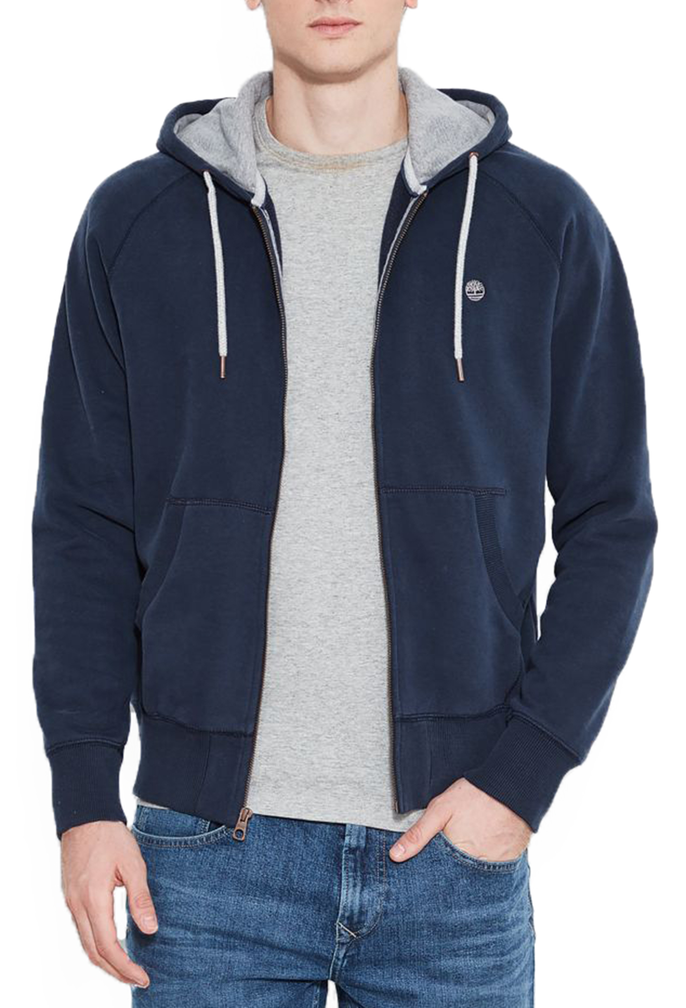 a0b44a699a Timberland Mens Hooded Exeter Sweatshirt Sweat Top Full Zip Hoodie ...