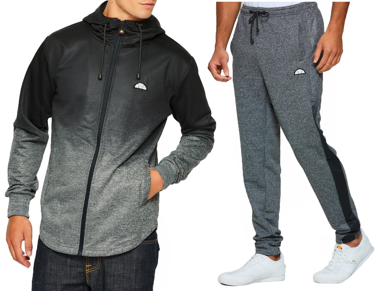 36104dea Details about ellesse New Mens Sportwear Track Top Hoodie, or Jog Pants  Grey Mix Match Suit