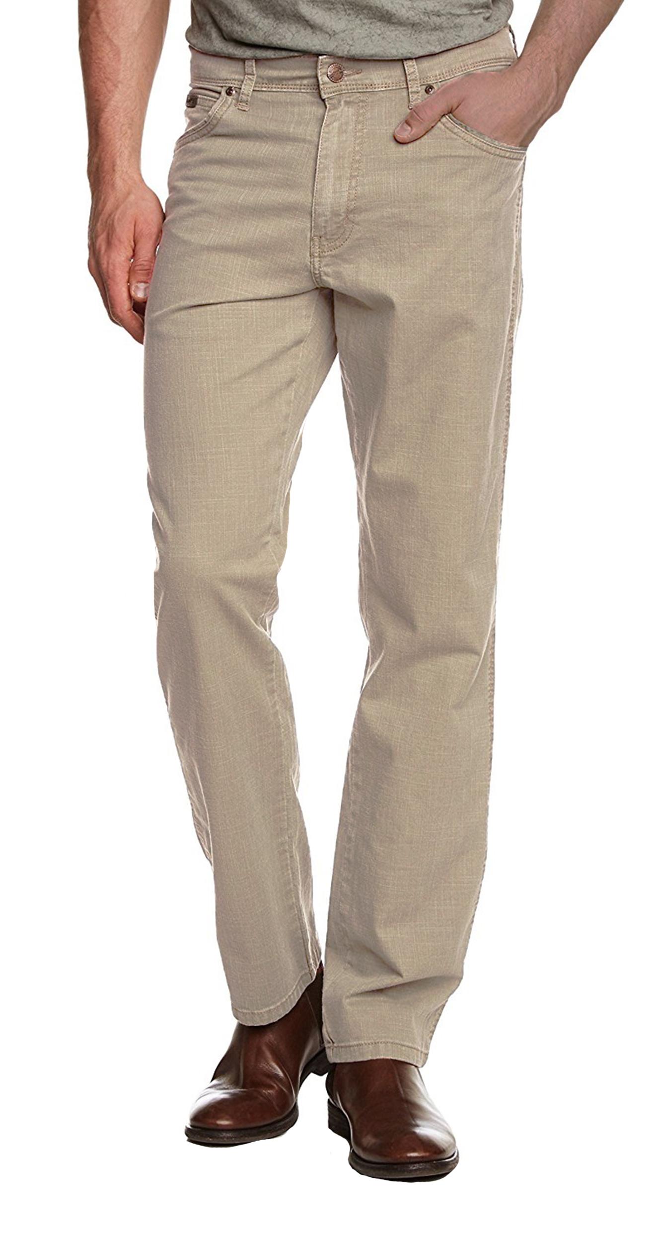 Wrangler Texas Stretch Jeans Mens Chino Style Light Soft Fabric Cornstalk Beige