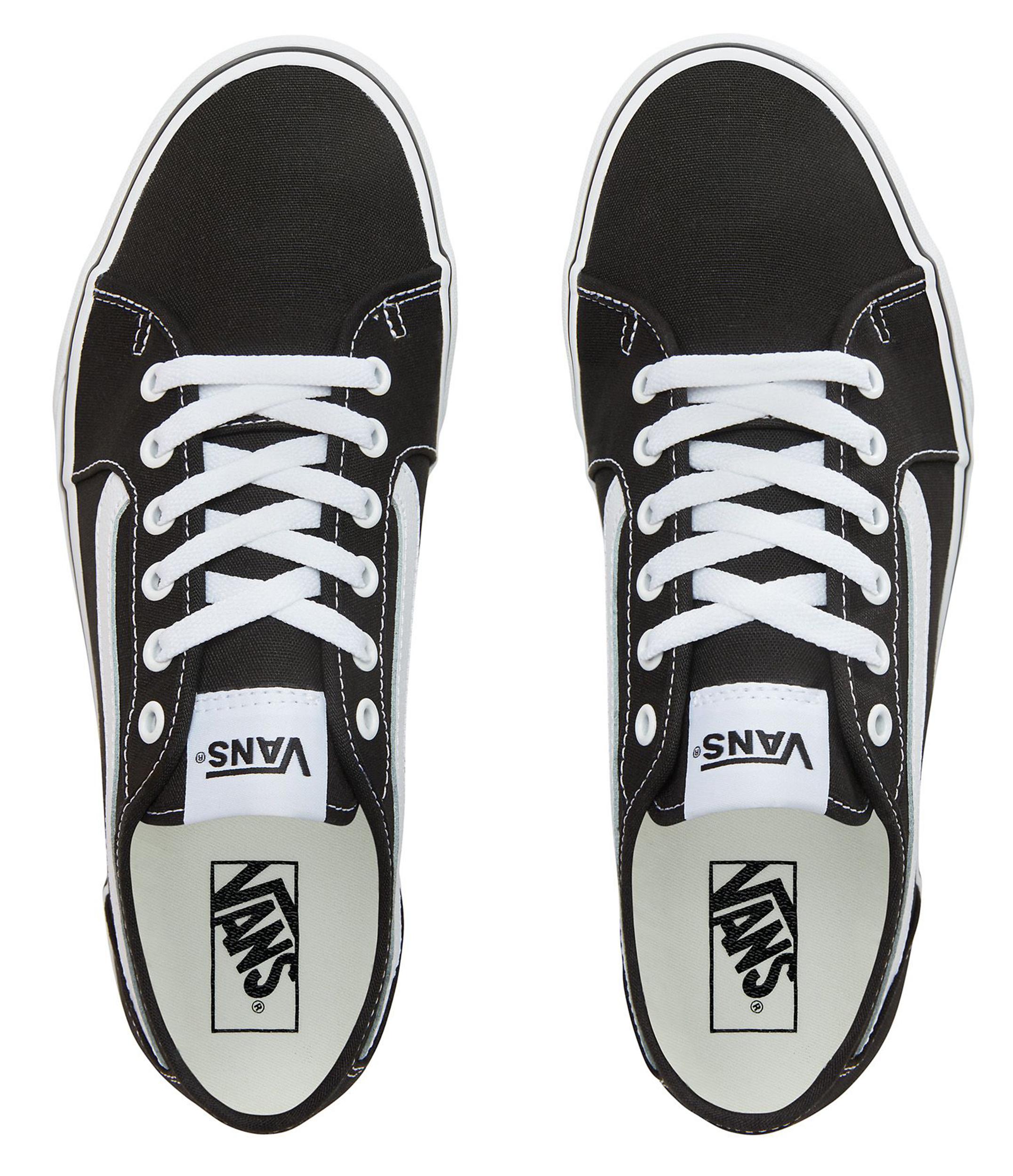 Details about VANS Filmore Decon Stripe Canvas Fashion Skater Shoe Trainers Black White