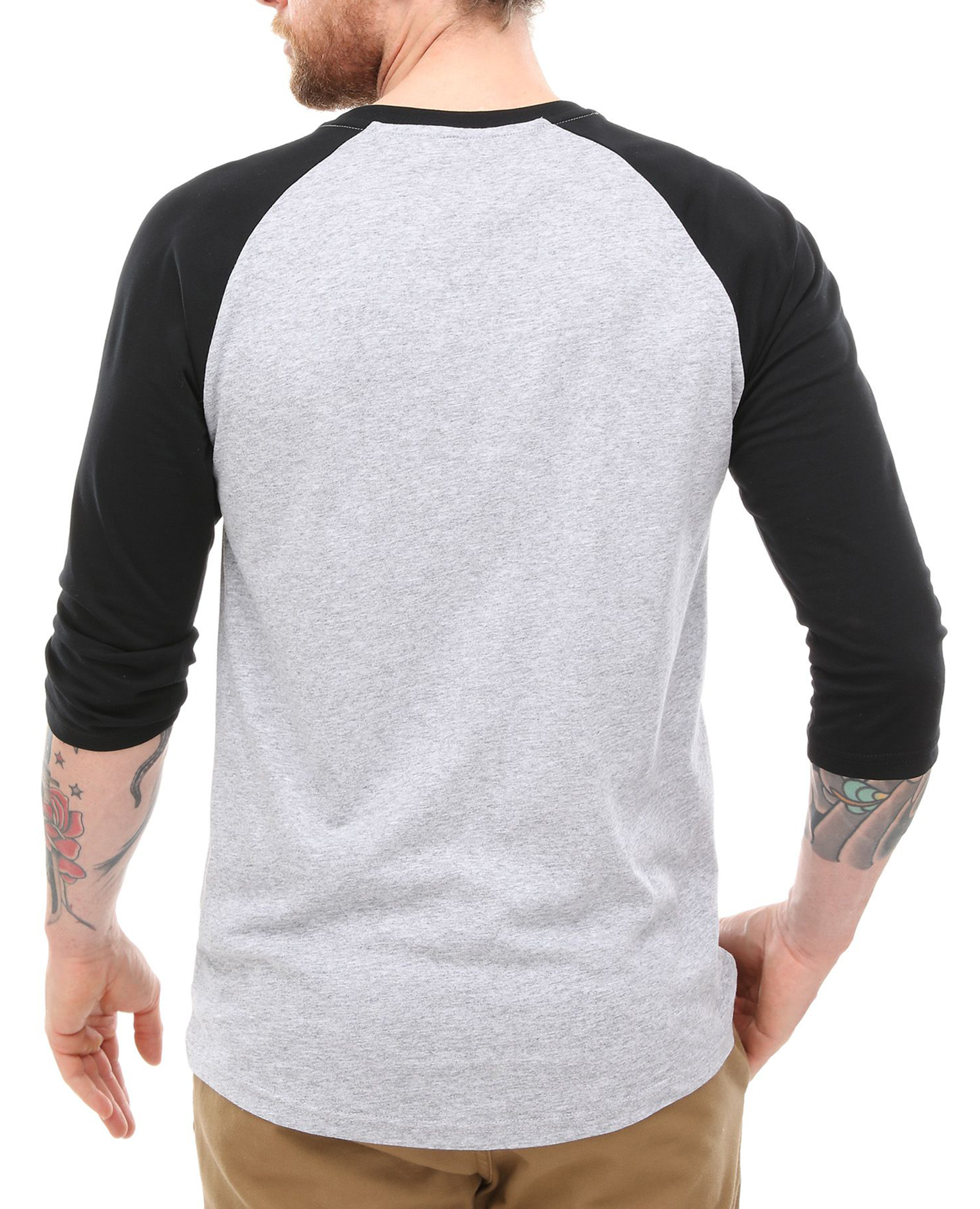 59e3ed34dc VANS Off The Wall Logo Long Sleeve Raglan TShirt Men Print Top Tee ...