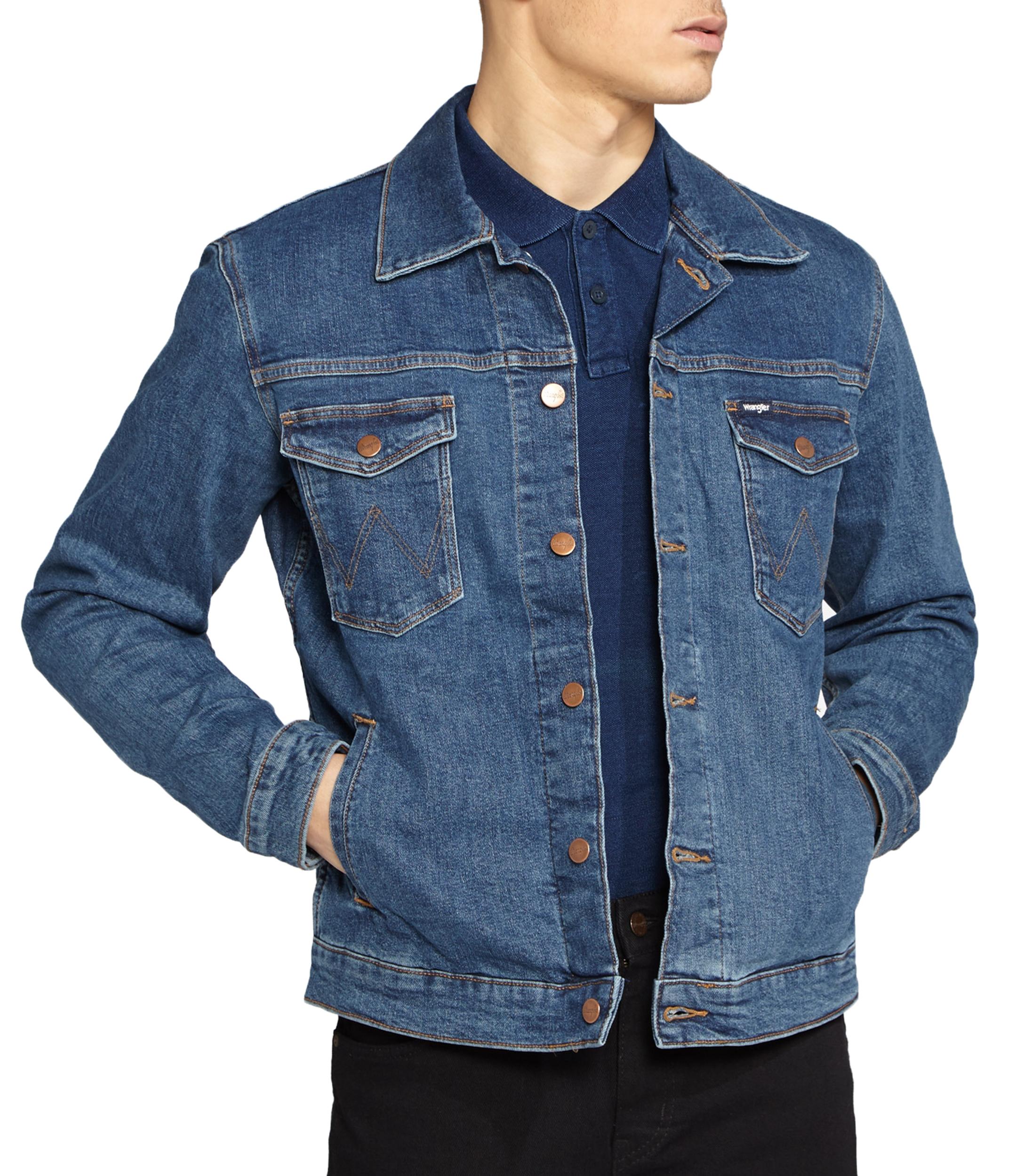 THE TRUCKER JACKET Giacca in denim con bottoni Jeans slavati
