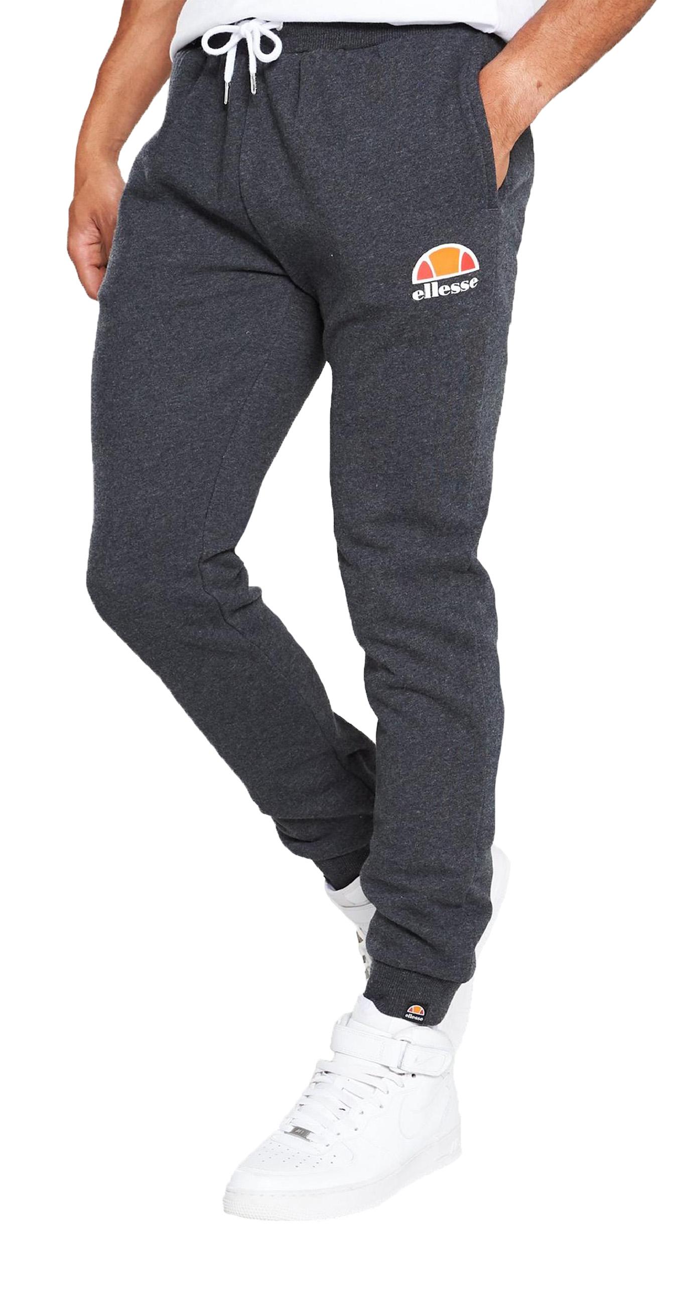 Detalles de Ellesse Hombre Ovest Jogging Fondos Sudor Correr Pantalones Gris Oscuro