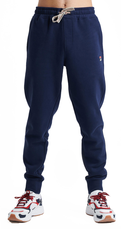 Detalles de Fila Hombre Visconti con Puntas Jogging Pantalones Sudor Correr Azul Marino