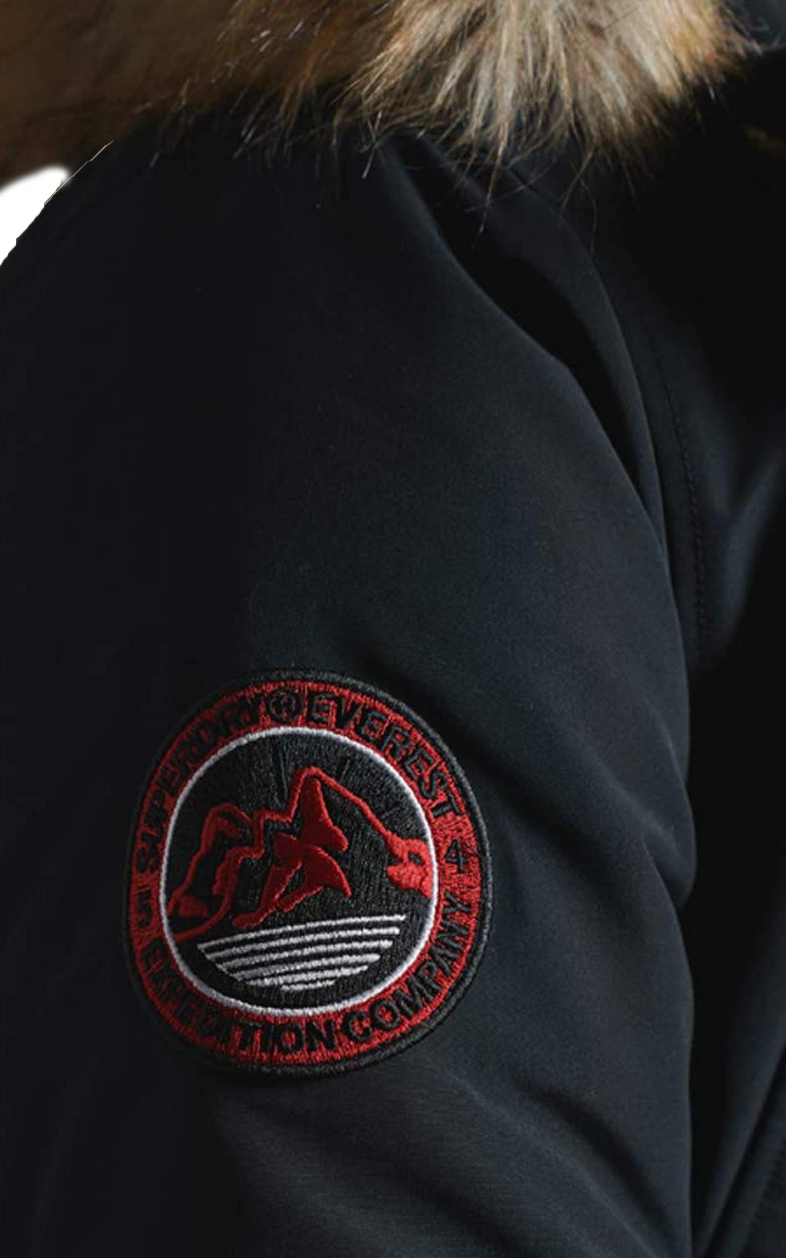 Superdry Faux Fur Parka Jacket Warm Long Hooded Padded Everest Winter Coat Blue