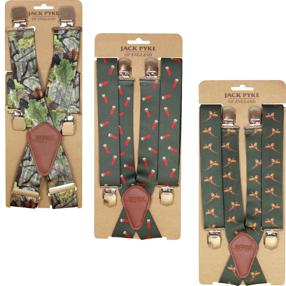"Jack Pyke 1.5/"" Wide Braces Hunters Green Pheasant Cartridge Hunting Leisure Gift"