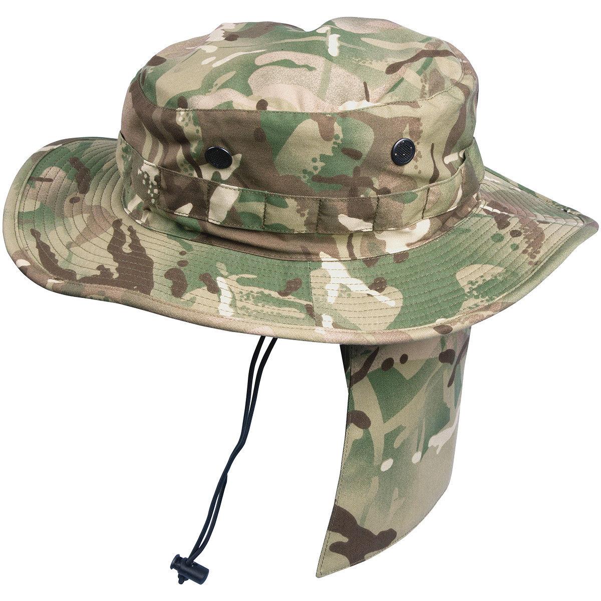 f614e87cb58 Details about HELIKON PCS BOONIE HAT BUSH BRITISH ARMY MULTICAM MTP  TACTICAL JUNGLE MP CAMO