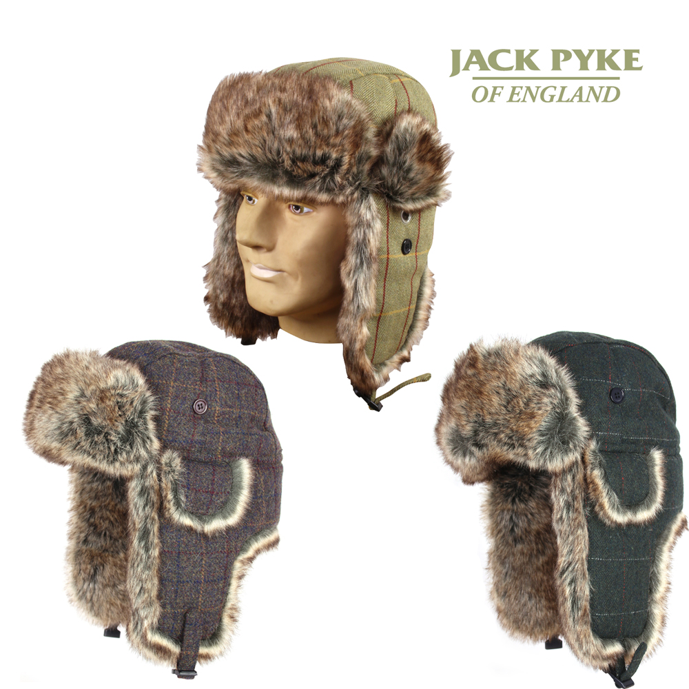 JACK PYKE MENS Wool Blend Green TRAPPER HAT HUNTING FISHING GAMING FREE DELIVERY