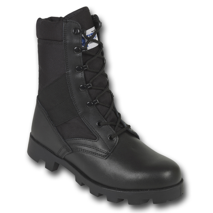 41bbdef943b Details about JUNGLE PATROL COMBAT BOOTS BLACK ARMY TACTICAL MILITARY HIGH  LEG LEATHER NYLON