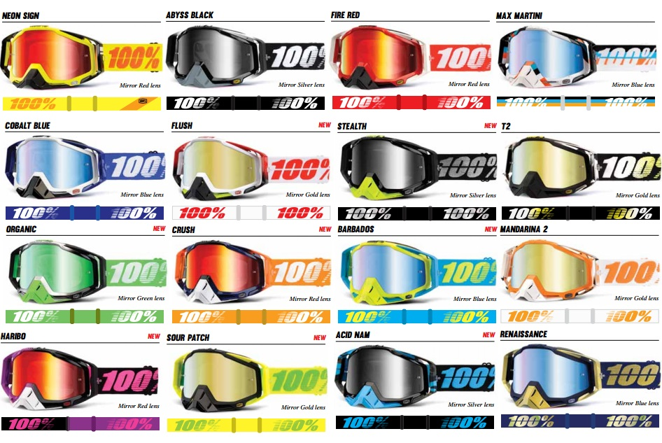 ded9d333fa9 NEW 100% RACECRAFT MIRROR LENS MOTOCROSS GOGGLE FREE EXPRESS ...