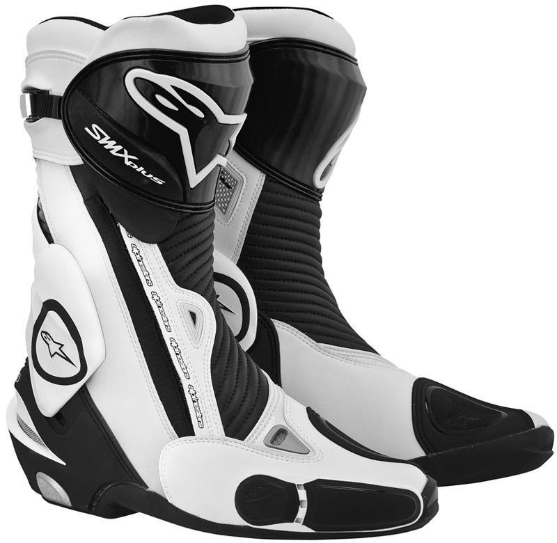66bcc16cf65 Alpinestars SMX Plus Black/White Motorcycle Boots Free Eu Delivery ...