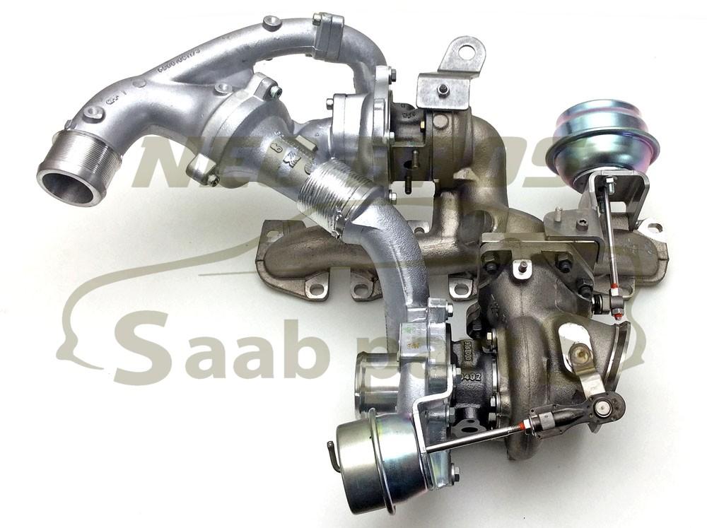 Genuine Twin Turbo Charger Saab 9 3 08 12 19 TTiD Z19DTR Diesel 93194991