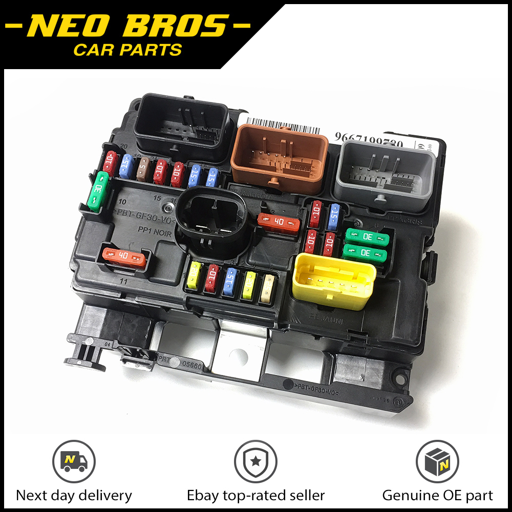 genuine engine bay fuse box bsm for citroen c3 picasso peugeot 207 6500hw ebay. Black Bedroom Furniture Sets. Home Design Ideas
